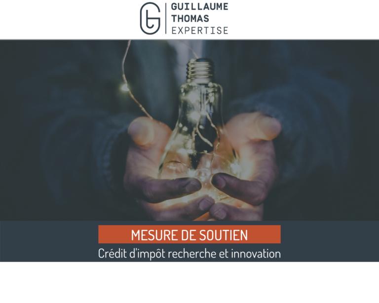 MESURE DE SOUTIEN - Les credits d'impot recherche et innovation
